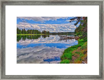 Yellowstone River Reflections Framed Print