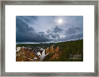 Yellowstone Storm Framed Print