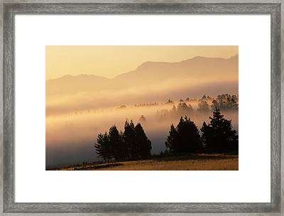 Yellowstone Sunrise Framed Print