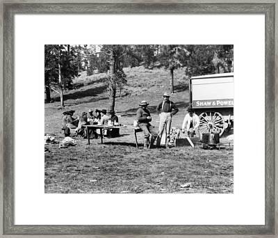 Yellowstone Tourists, C1903 Framed Print