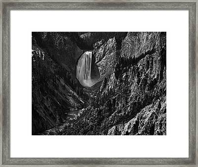 Yellowstone Waterfall Framed Print by Andrew Soundarajan