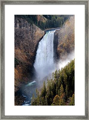 Lower Yellowstone Falls Framed Print by Athena Mckinzie