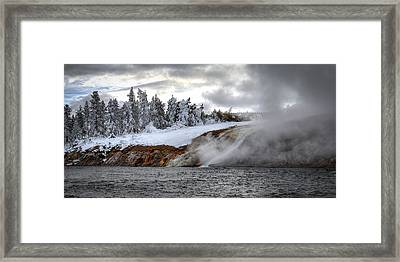 Yellowstone's Fire And Ice Framed Print