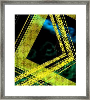 Yelow And Blue Digital Art Framed Print by Mario Perez