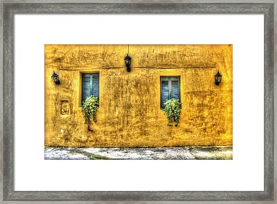 Yelow Wall Framed Print by Radoslav Nedelchev