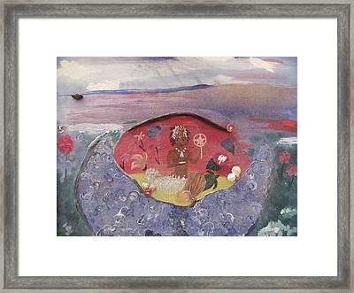 Yemanja Framed Print by Susan Snow Voidets