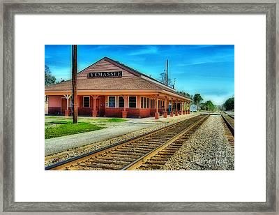 Yemassee Train Station Framed Print by Skip Willits
