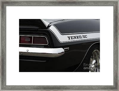 Yenko Sc Beauty Of Design Framed Print by Bob Christopher