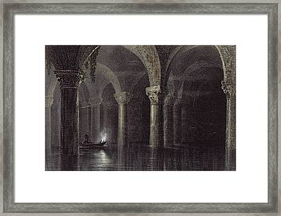 Yere Batan Serai Istanbul, Engraved Framed Print by William Henry Bartlett