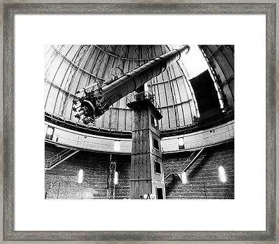 Yerkes 40-inch Refractor Framed Print by Yerkes Observatory, University Of Chicago, Courtesy Emilio Segre Visual Archives/american Institute Of Physics