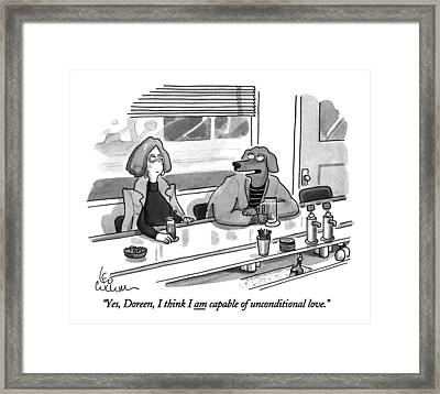 Yes, Doreen, I Think I Am Capable Framed Print by Leo Cullum