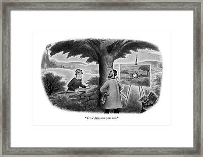 Yes, I Have Seen Your Ball Framed Print by Richard Taylor