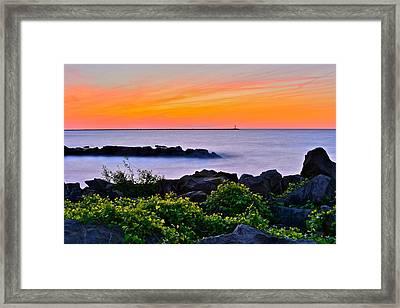 Yes Its Lake Erie Framed Print