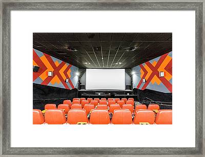 Yes Planet Movie Theatre Framed Print