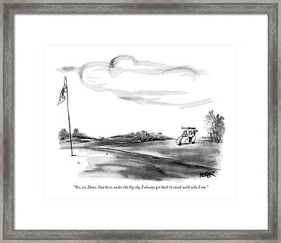 Yes, Sir, Dave. Out Here, Under The Big Sky Framed Print by Robert Weber