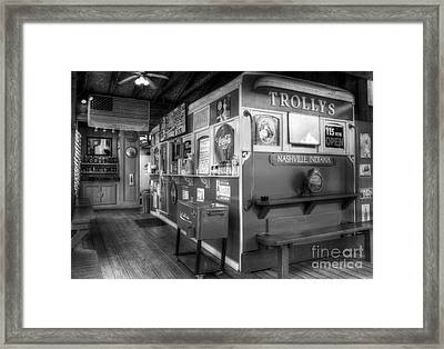 Yes We Are Open Bw Framed Print by Mel Steinhauer