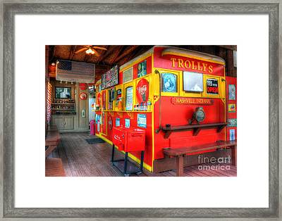 Yes We Are Open Framed Print