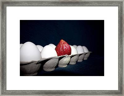 Yes You Are Different Framed Print by Lora Lee Chapman