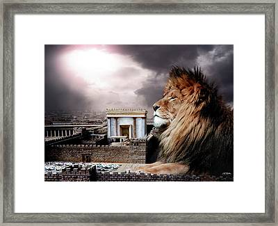 Yeshua In The Outer Court Framed Print