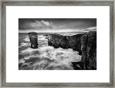 Yesnaby Castle Framed Print by Dave Bowman