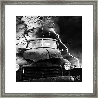 Yesterday Came Early . Tomorrow Is Almost Over . Bw . Square Framed Print by Wingsdomain Art and Photography