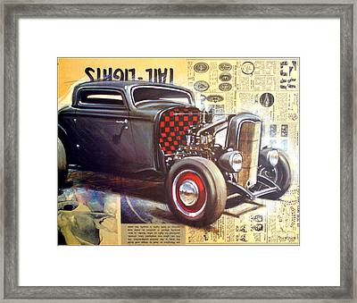 Yesterday Hotrod Framed Print by Kip Krause