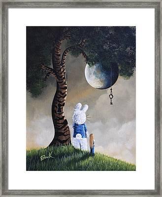 Alice In Wonderland Artwork - Fairytale Paintings Framed Print by Shawna Erback