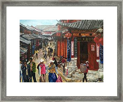 Yesterday Once More Framed Print by Belinda Low