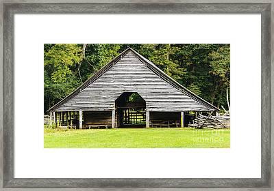 Yesterdays Barn Framed Print