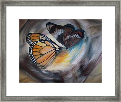Yesterday's Butterflies Framed Print