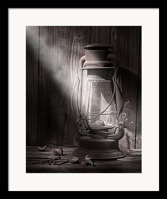 Kerosene Lamp Framed Prints