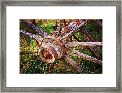 Yesterday's Wheel Framed Print by Marty Koch