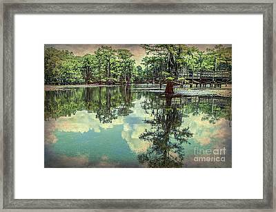 Yesteryear At Caddo Lake Framed Print
