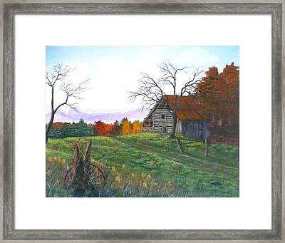 Yesteryear Autumn Framed Print