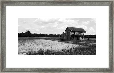 Yesteryear In Black And White Framed Print by Karen Ray