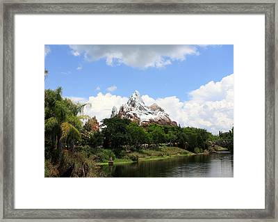 Framed Print featuring the photograph Yeti Country by David Nicholls