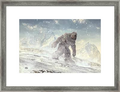 Yeti Framed Print by Daniel Eskridge