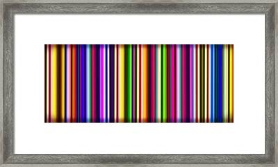 Yikes Stripes Framed Print by Ginny Schmidt
