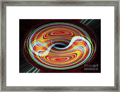 Yin And Yang - Abstract Framed Print
