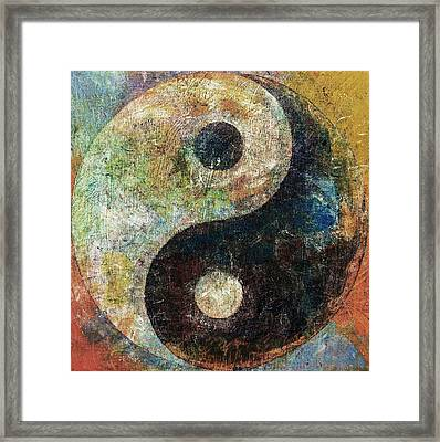Yin And Yang Framed Print by Michael Creese