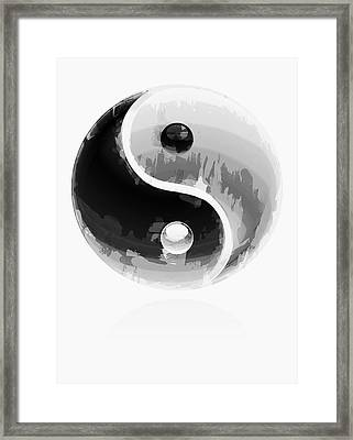 Yin Yang 2 Framed Print