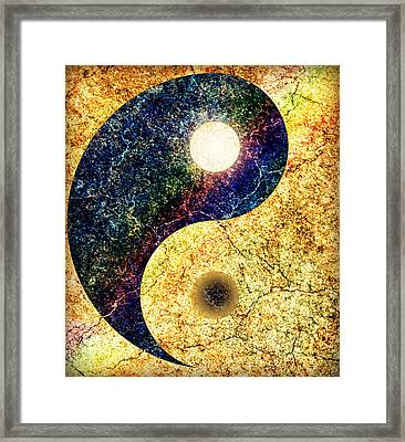 Yin Yang Framed Print by Ally  White