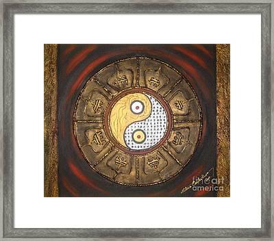 Yin Yang Balance Framed Print