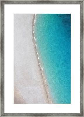 Yin Yang Coast Framed Print