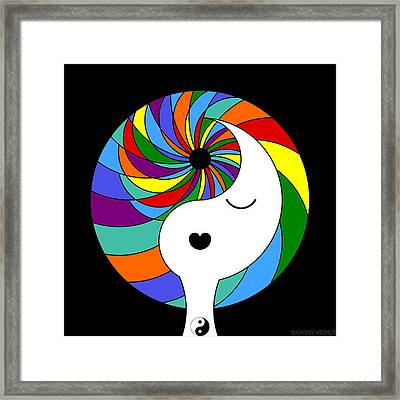 Yin Yang Crown 1 Framed Print