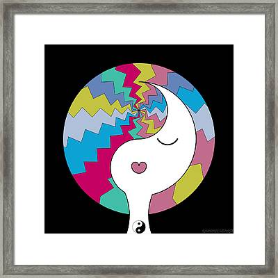 Yin Yang Crown 10 Framed Print