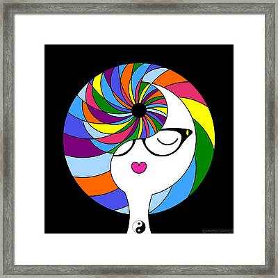 Yin Yang Crown 2 Framed Print