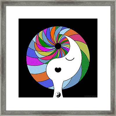 Yin Yang Crown 3 Framed Print