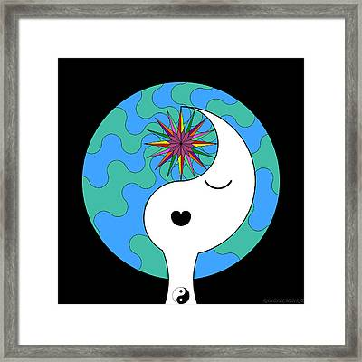 Yin Yang Crown 4 Framed Print