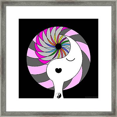 Yin Yang Crown 5 Framed Print
